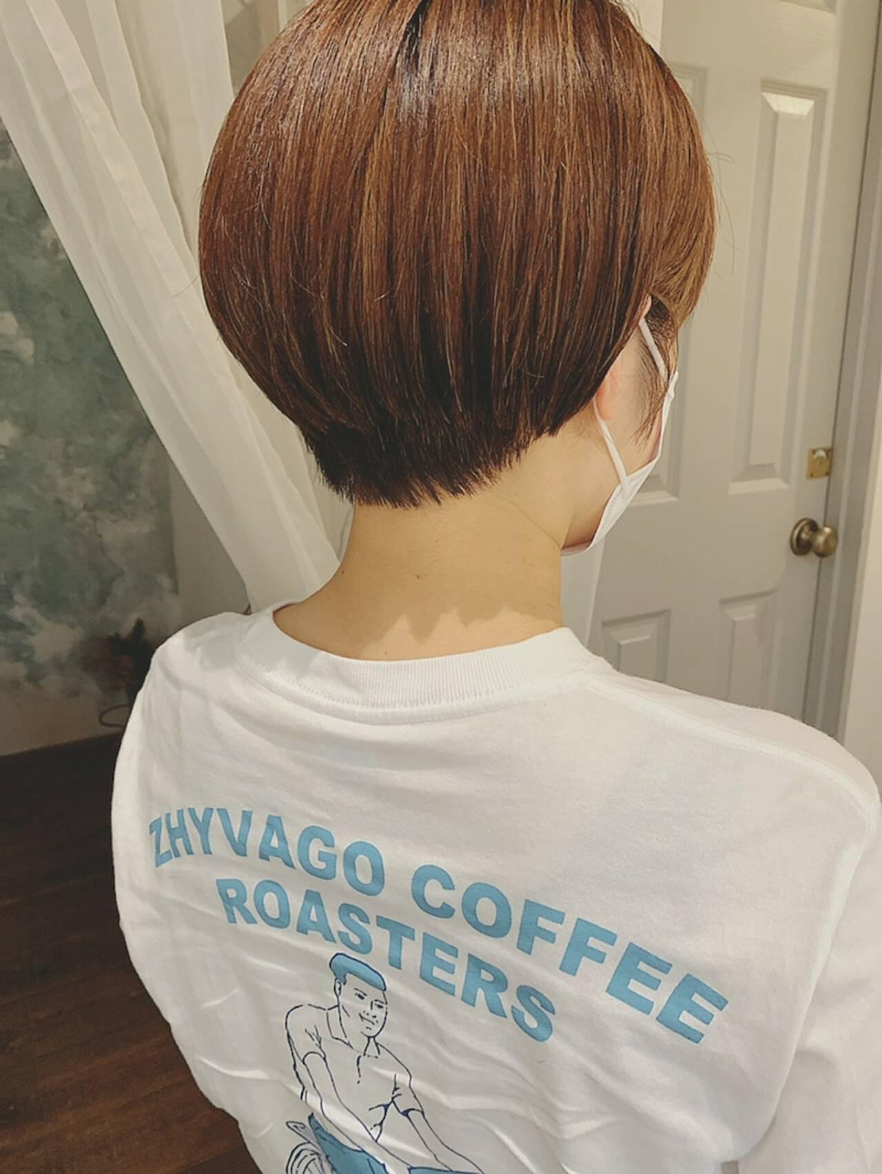 ハイライト ボーイッシュ 夏 ショートヘアヘアスタイルや髪型の写真・画像