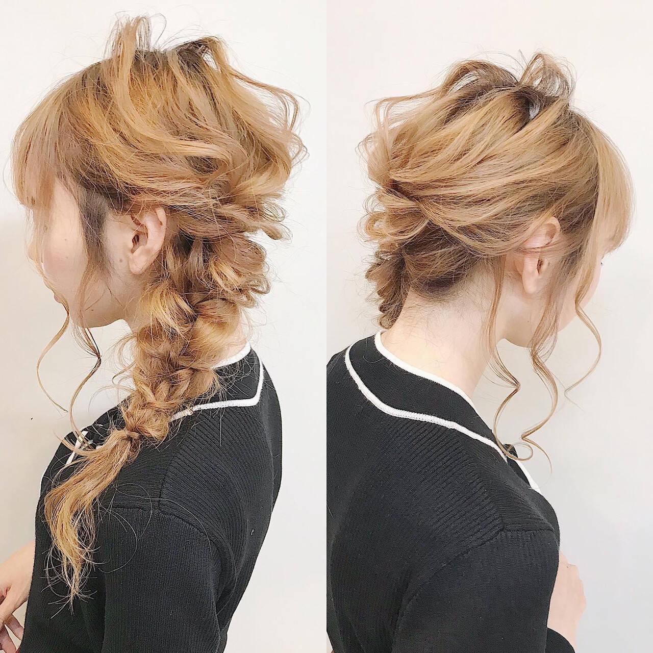 結婚式ヘアアレンジ セルフヘアアレンジ ナチュラル ヘアアレンジヘアスタイルや髪型の写真・画像