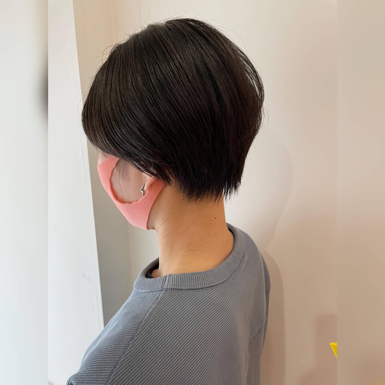 ミニボブ ショートヘア ショート ベリーショートヘアスタイルや髪型の写真・画像