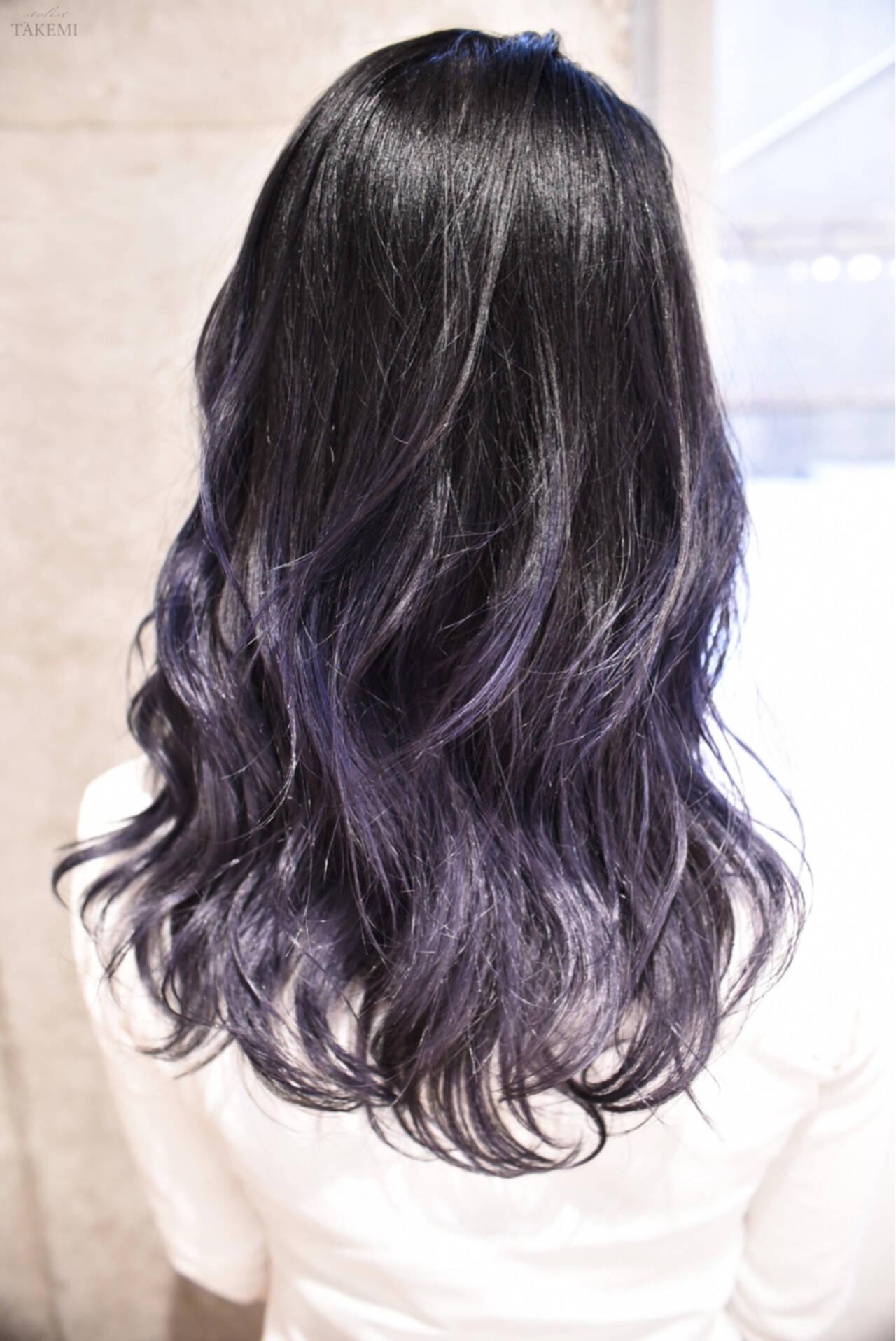 セミロング 外国人風カラー ハイライト ストリートヘアスタイルや髪型の写真・画像