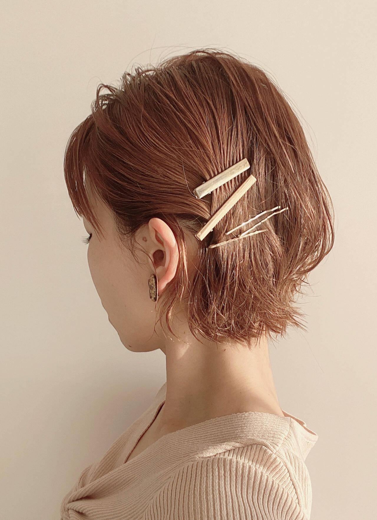 ミニボブ 切りっぱなしボブ ボブ ナチュラルヘアスタイルや髪型の写真・画像