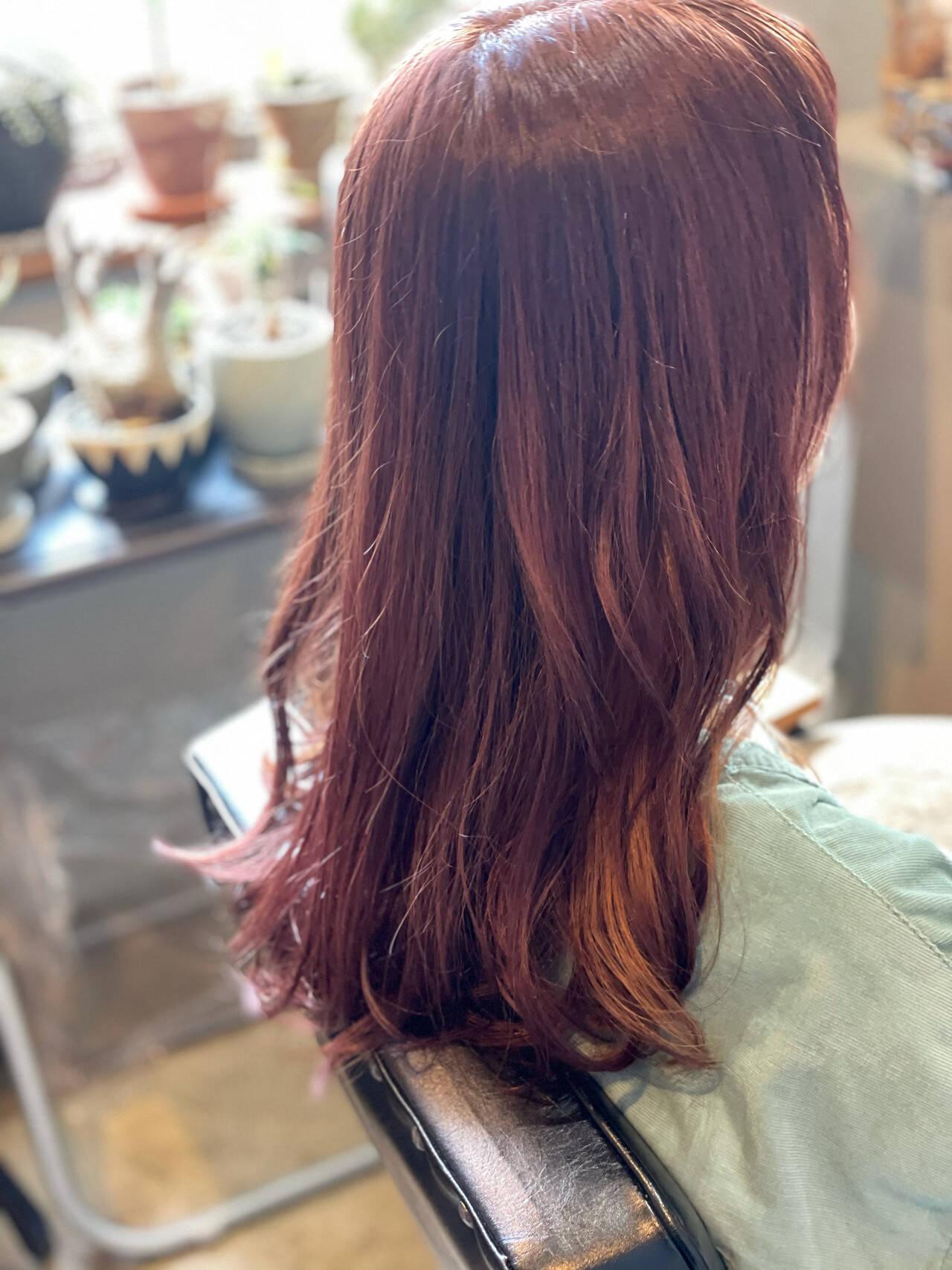 イヤリングカラー 大人かわいい 大人女子 セミロングヘアスタイルや髪型の写真・画像