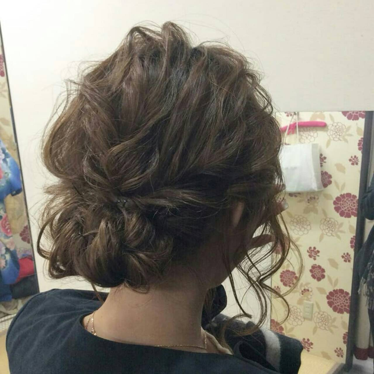 ナチュラル ヘアアレンジ ミディアム 結婚式ヘアスタイルや髪型の写真・画像