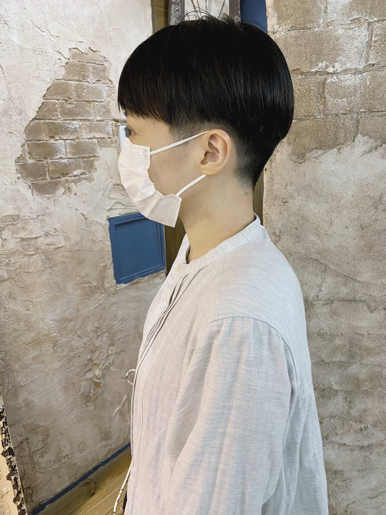 刈り上げ女子 ショート ストリート 刈り上げショートヘアスタイルや髪型の写真・画像