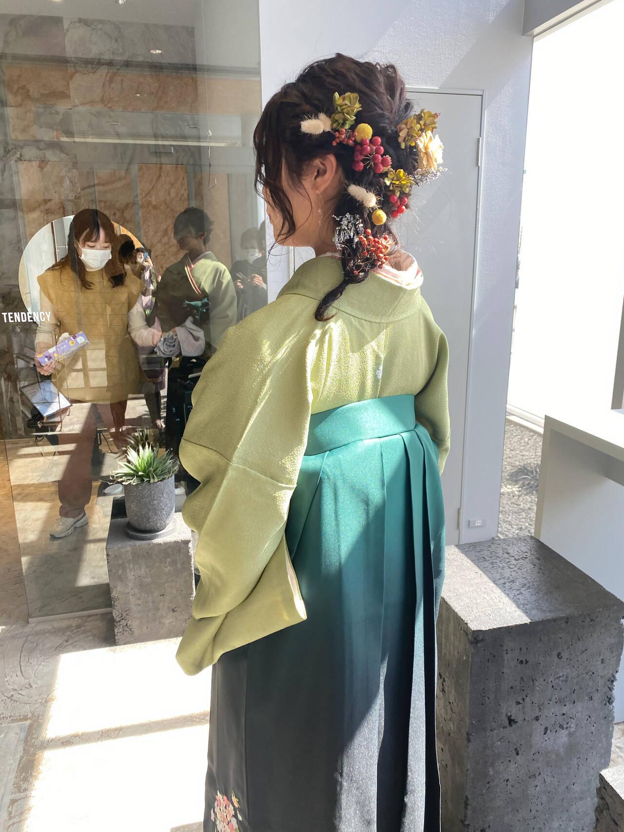 袴 卒業式 和装ヘア アップスタイルヘアスタイルや髪型の写真・画像