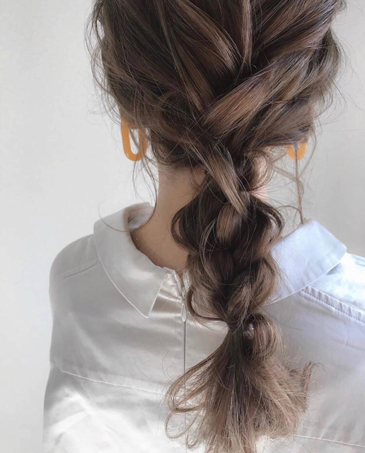 ナチュラル デート 簡単ヘアアレンジ ヘアアレンジヘアスタイルや髪型の写真・画像