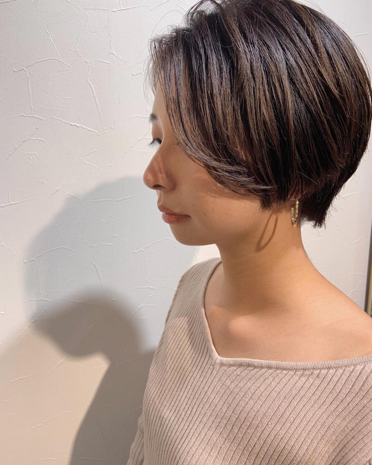 ショートヘア ベリーショート マッシュショート 小顔ショートヘアスタイルや髪型の写真・画像