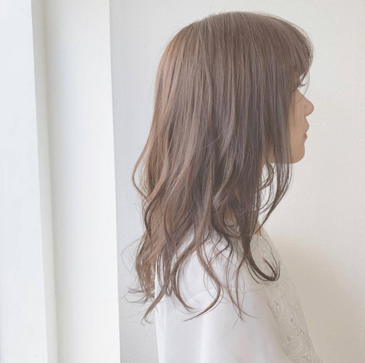 ナチュラル ふんわり 可愛い セミロングヘアスタイルや髪型の写真・画像