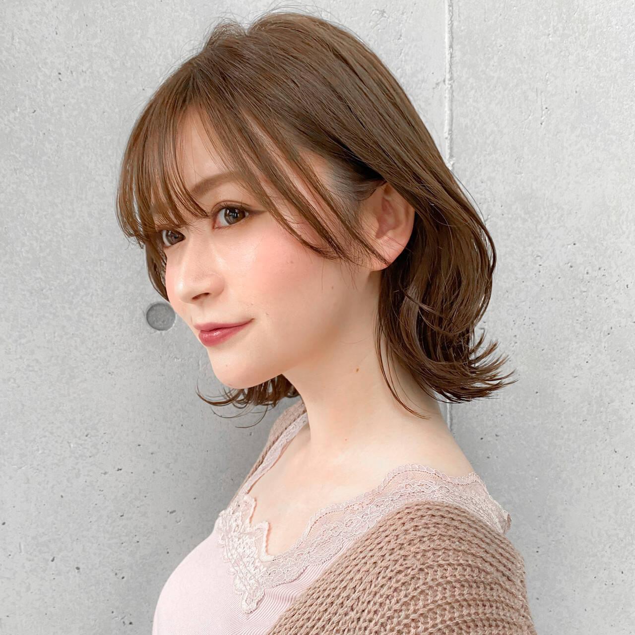 レイヤースタイル セミロング 大人可愛い モテ髪ヘアスタイルや髪型の写真・画像