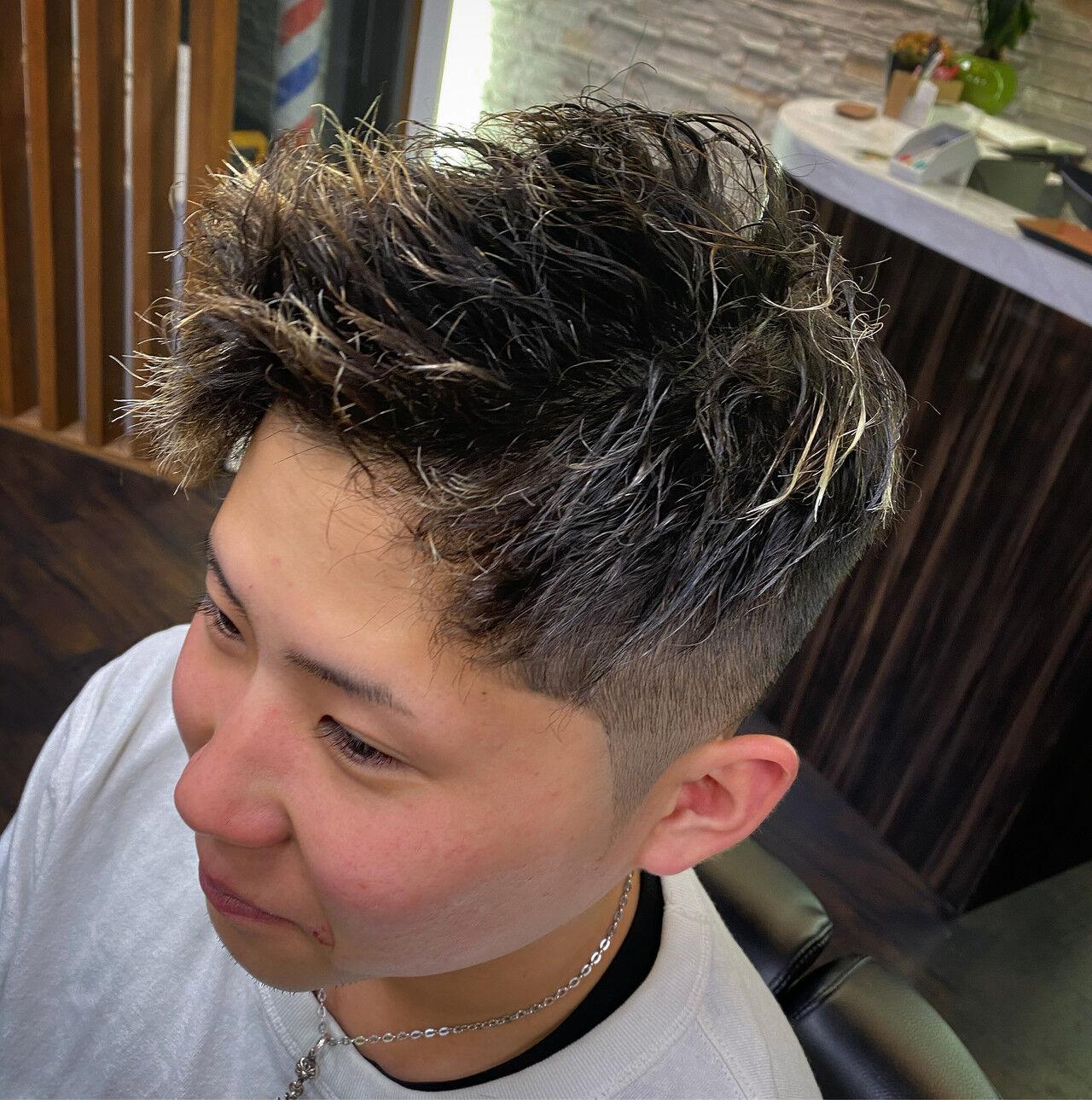 メンズショート メンズヘア スキンフェード ガーリーヘアスタイルや髪型の写真・画像