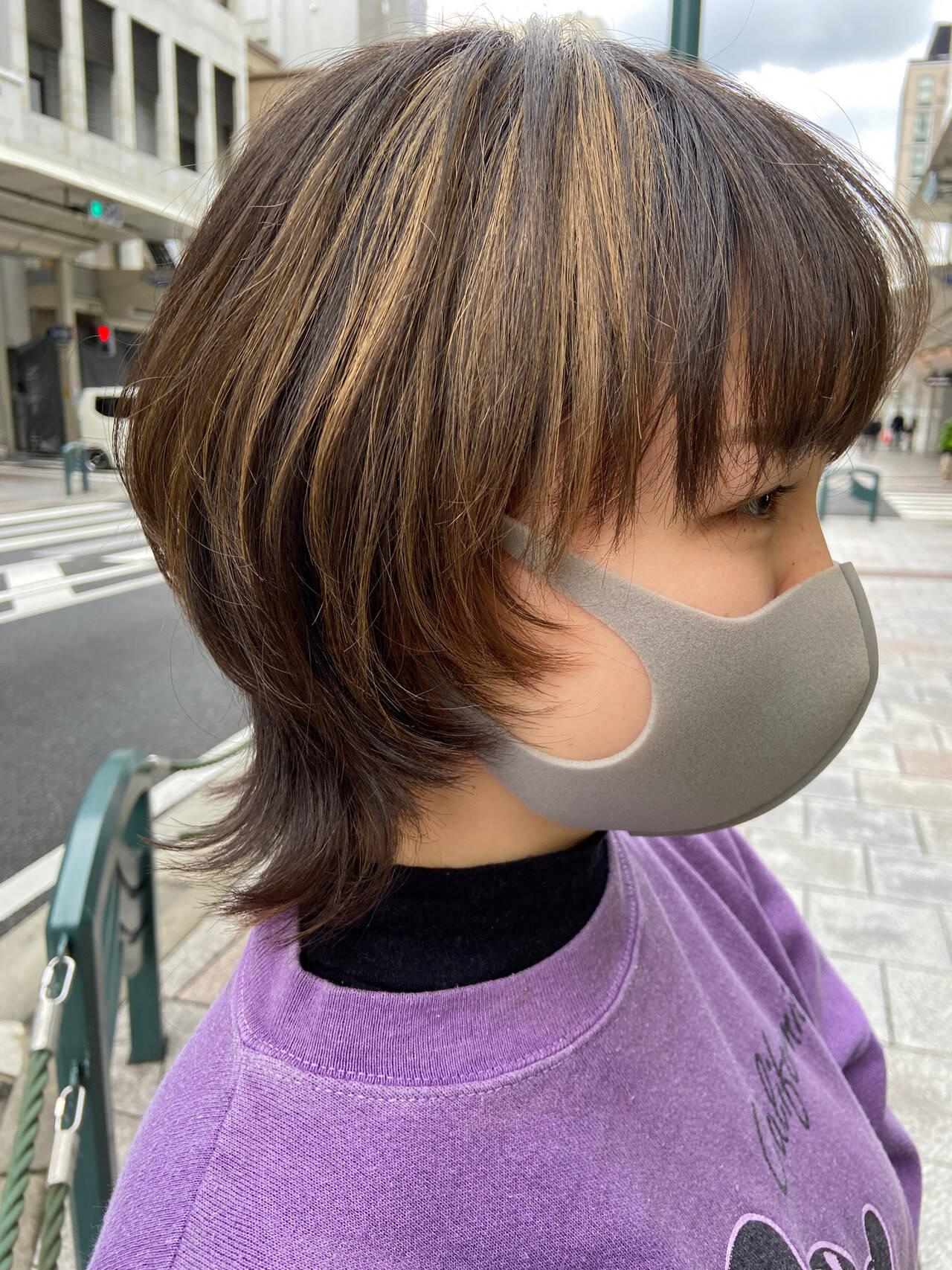 レイヤースタイル ナチュラル ニュアンスウルフ マッシュウルフヘアスタイルや髪型の写真・画像