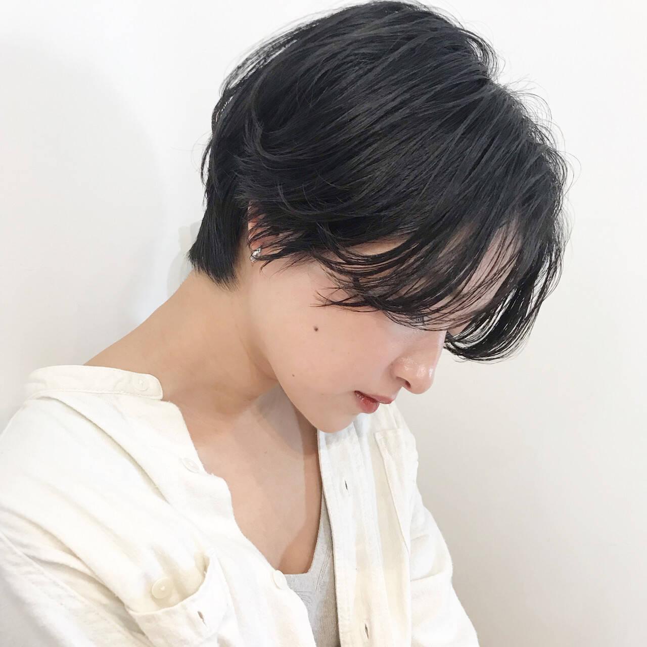 ナチュラル ヘアアレンジ デート ショートヘアスタイルや髪型の写真・画像