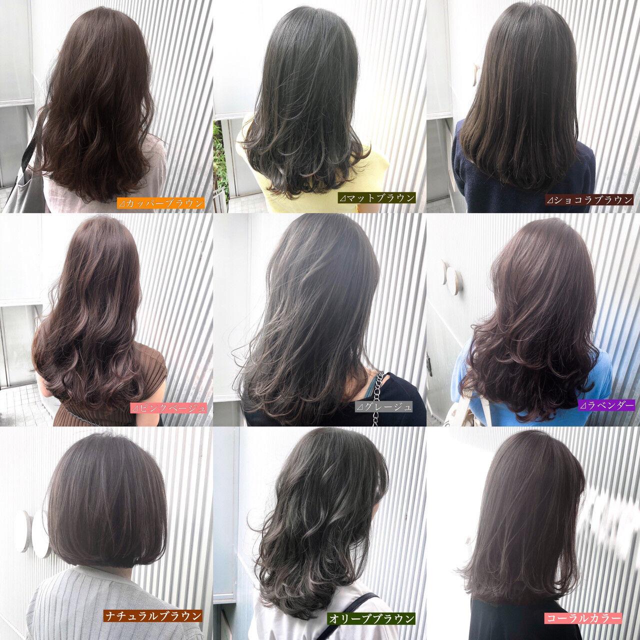 前髪 ミルクティーグレージュ アッシュ ストレートヘアスタイルや髪型の写真・画像