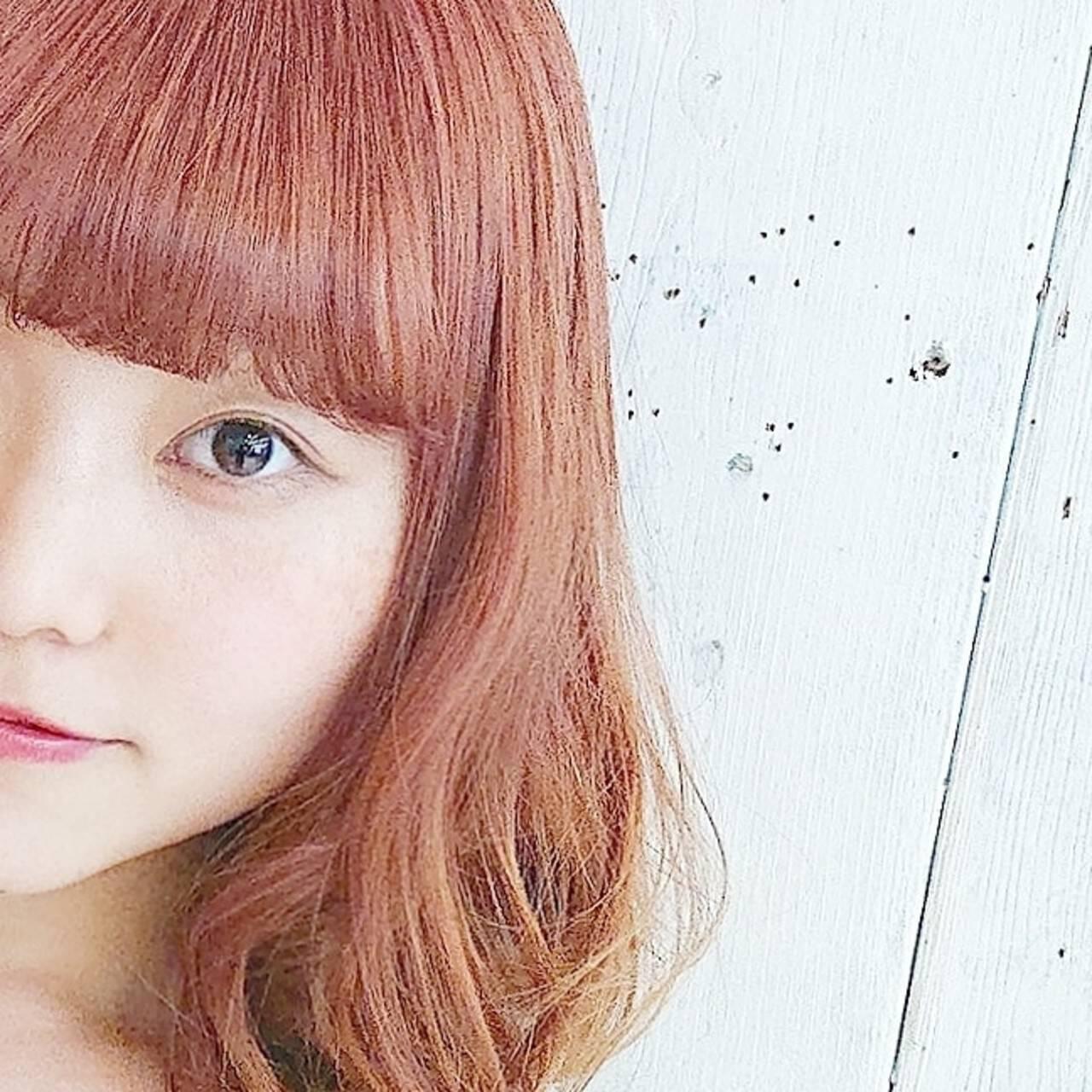 オレンジ ストリート 透明感 ハイトーンヘアスタイルや髪型の写真・画像