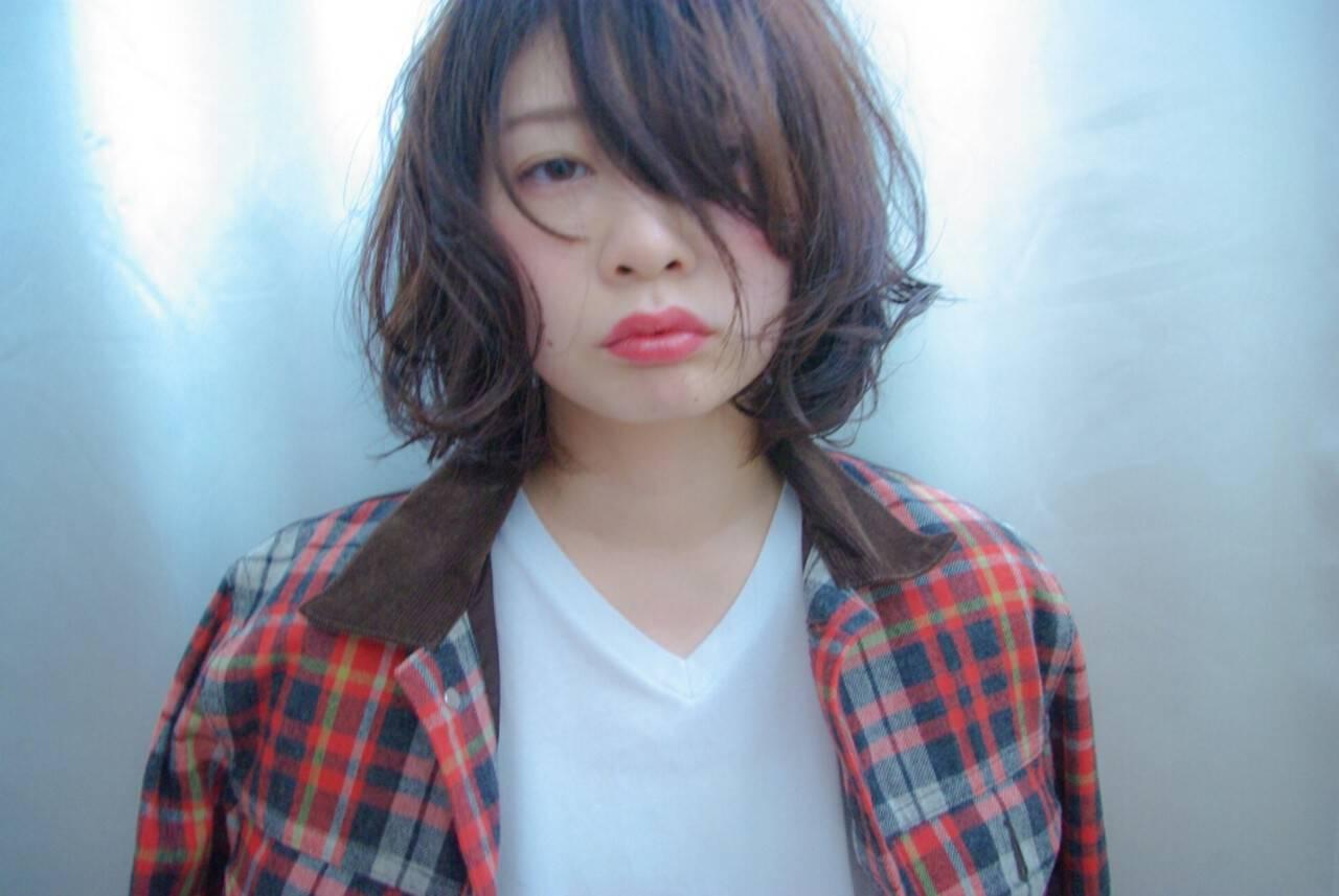 大人女子 ストリート かっこいい 前髪ありヘアスタイルや髪型の写真・画像
