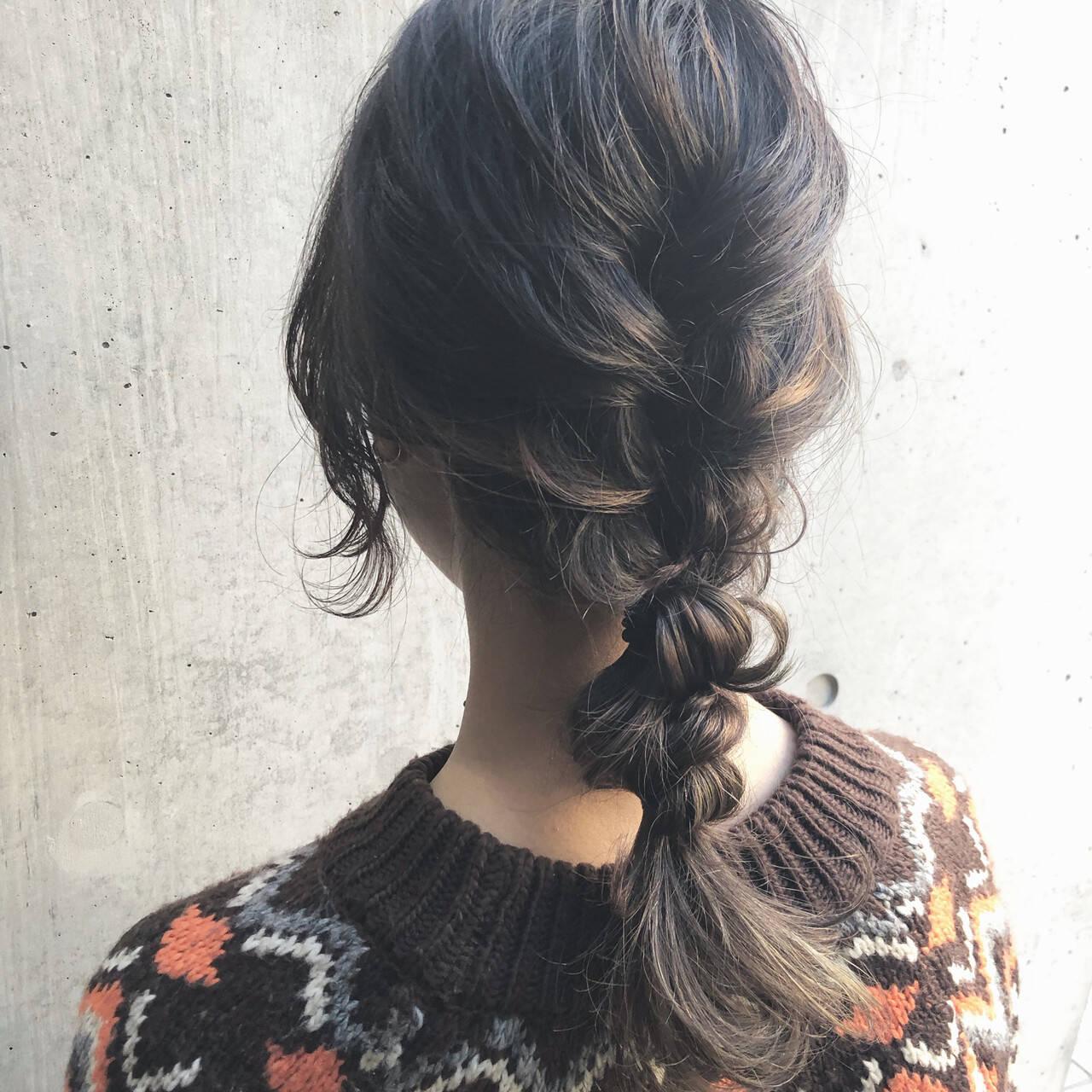 簡単ヘアアレンジ 大人カジュアル ミディアム 大人かわいいヘアスタイルや髪型の写真・画像