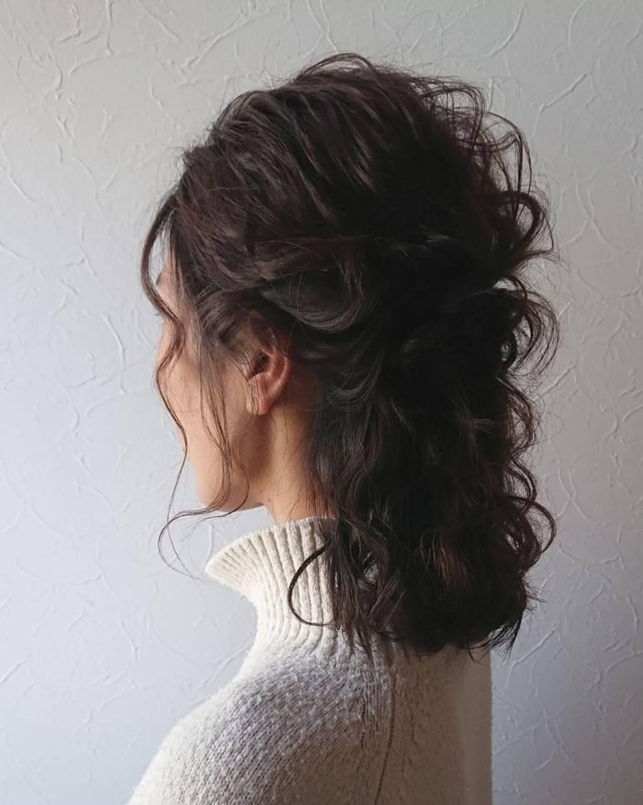 大人可愛い ボブ ヘアアレンジ ガーリーヘアスタイルや髪型の写真・画像