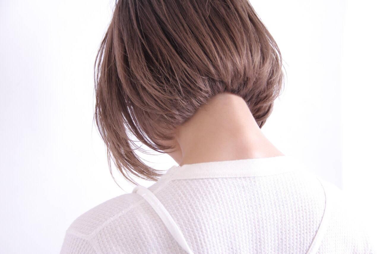 色気 ボブ 美シルエット ナチュラルヘアスタイルや髪型の写真・画像