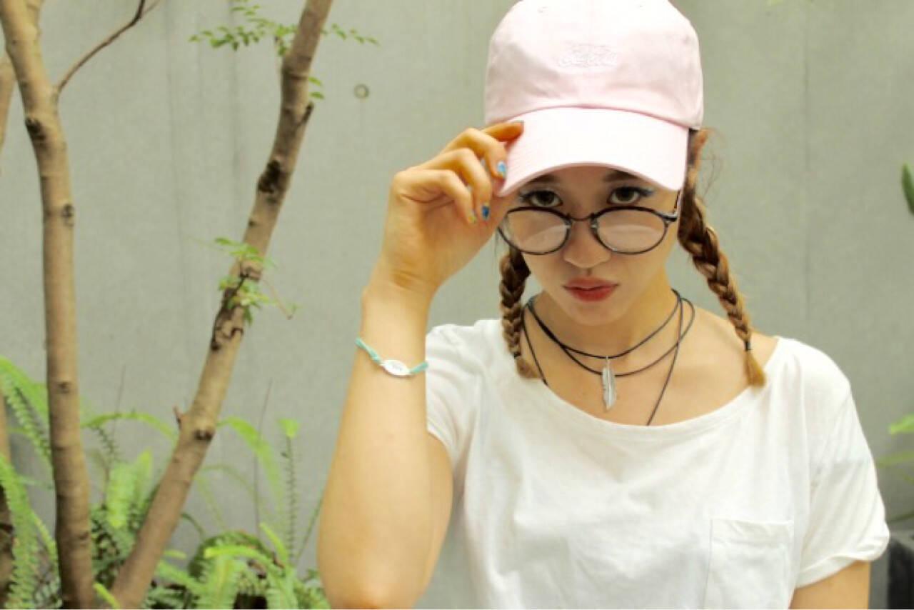 セミロング グラデーションカラー 簡単ヘアアレンジ ハイライトヘアスタイルや髪型の写真・画像