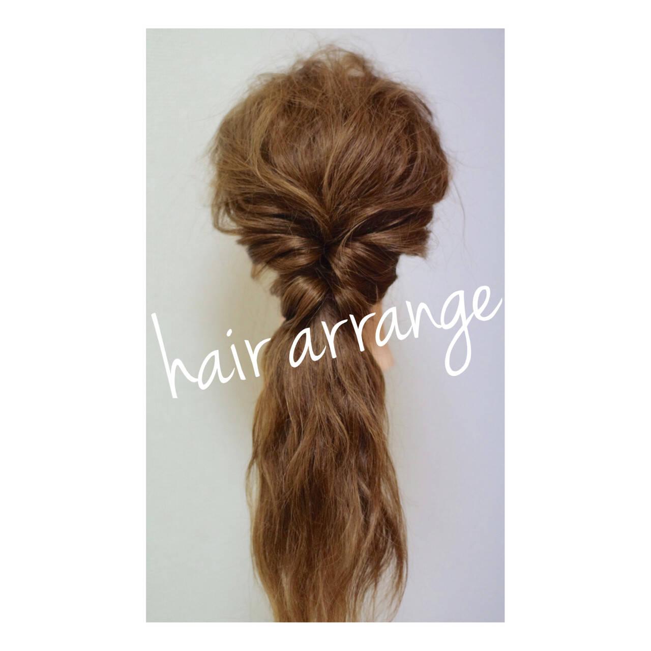簡単ヘアアレンジ フェミニン ハーフアップ ヘアアレンジヘアスタイルや髪型の写真・画像