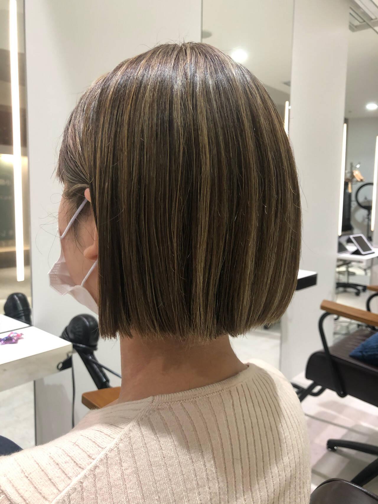 ハイライト コントラストハイライト ナチュラル ショートヘアヘアスタイルや髪型の写真・画像