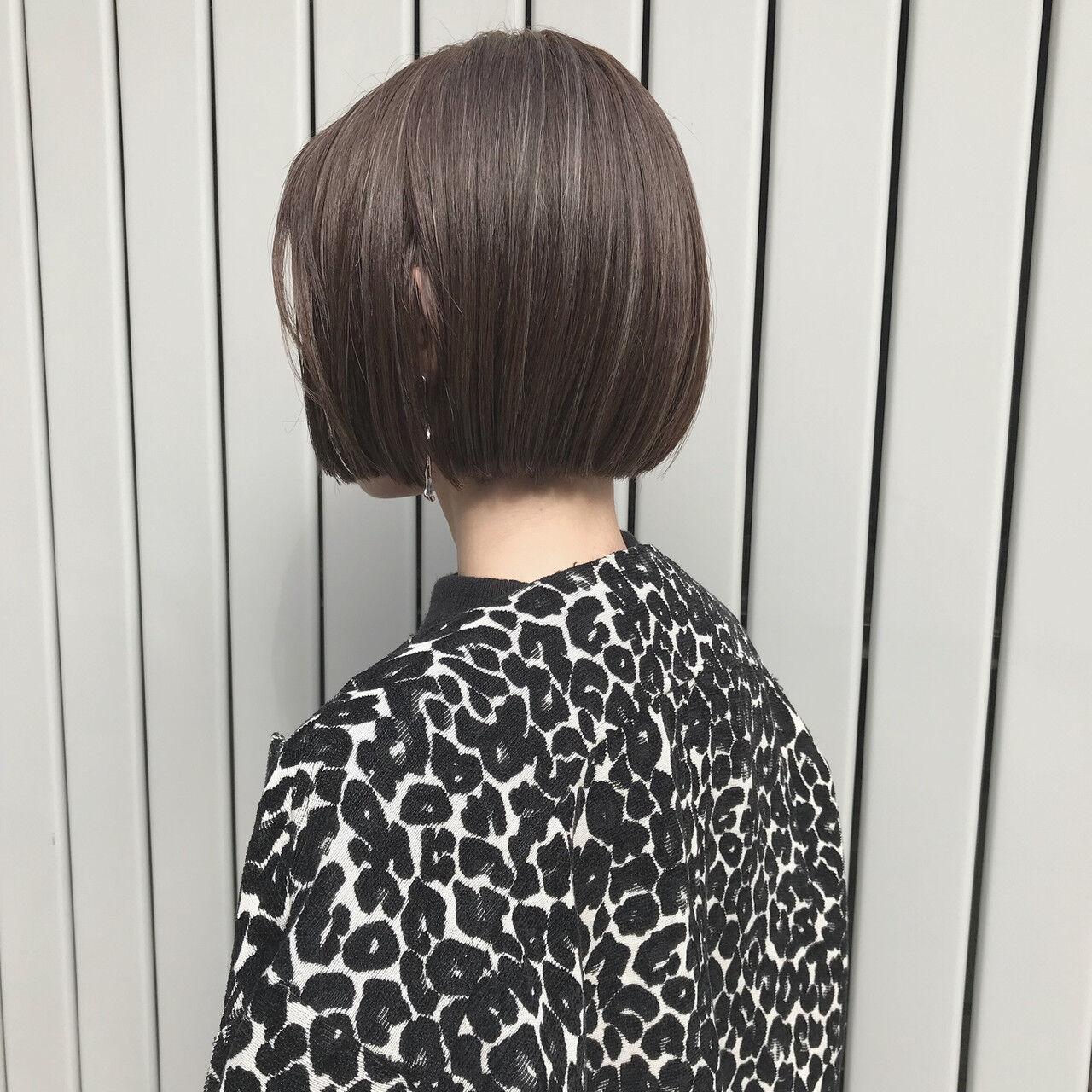 ナチュラル ボブ モテ髪 ボブヘアーヘアスタイルや髪型の写真・画像