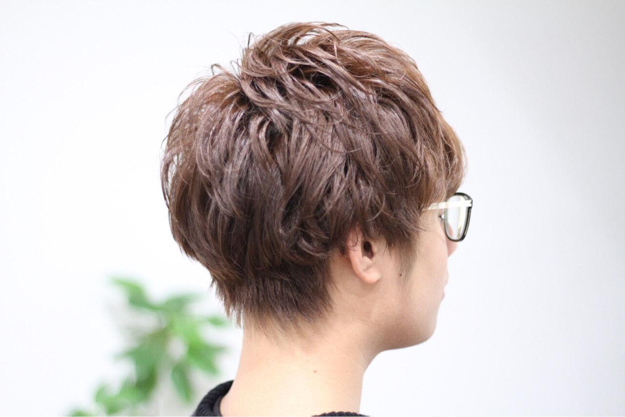 ボーイッシュ ショート メンズ モテ髪ヘアスタイルや髪型の写真・画像
