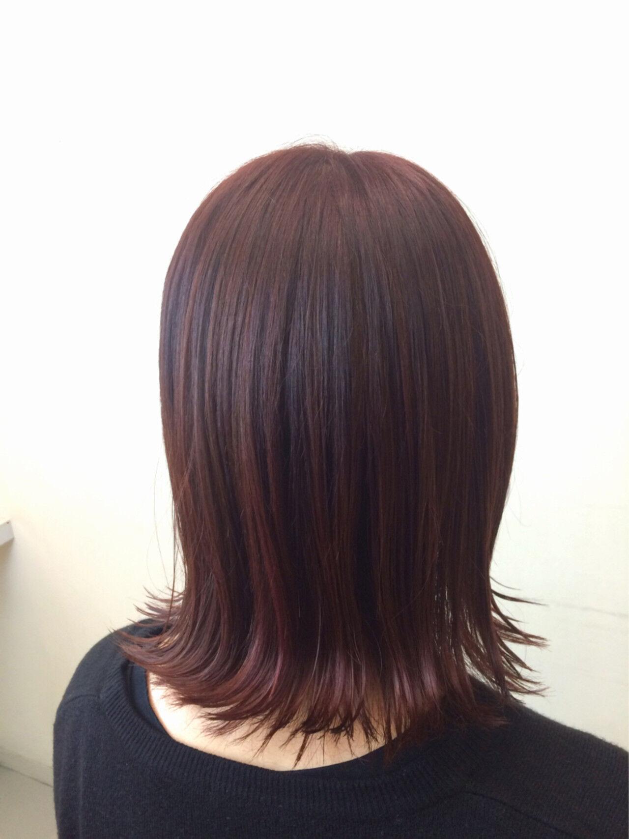 秋 ミディアム 暗髪 ストリートヘアスタイルや髪型の写真・画像