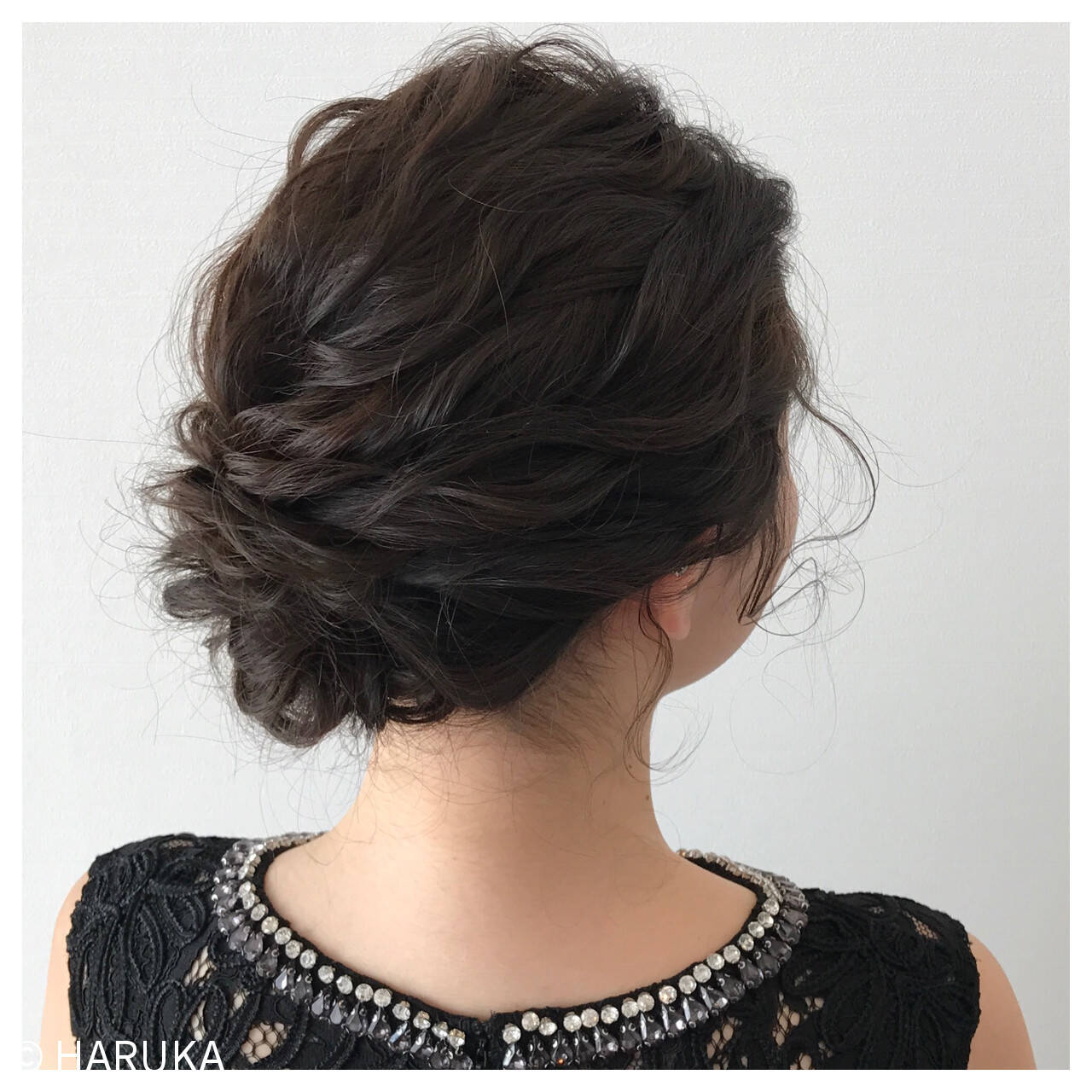 結婚式 ヘアアレンジ ロング セミロングヘアスタイルや髪型の写真・画像