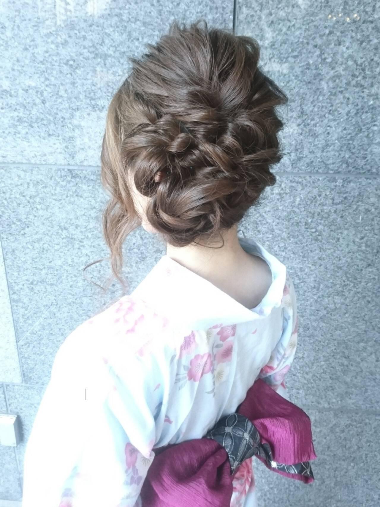 こなれ感 ナチュラル お祭り ヘアアレンジヘアスタイルや髪型の写真・画像