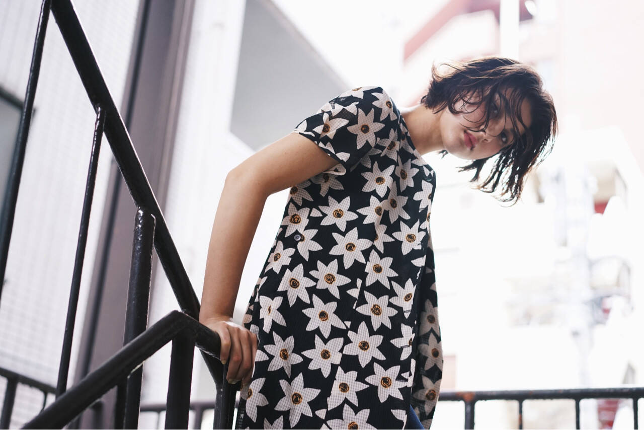 色気 ボブ 外国人風カラー ストリートヘアスタイルや髪型の写真・画像