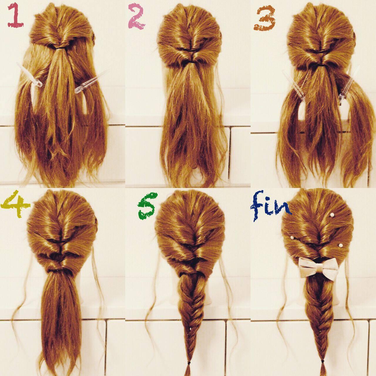 三つ編み ガーリー セミロング ヘアアレンジヘアスタイルや髪型の写真・画像