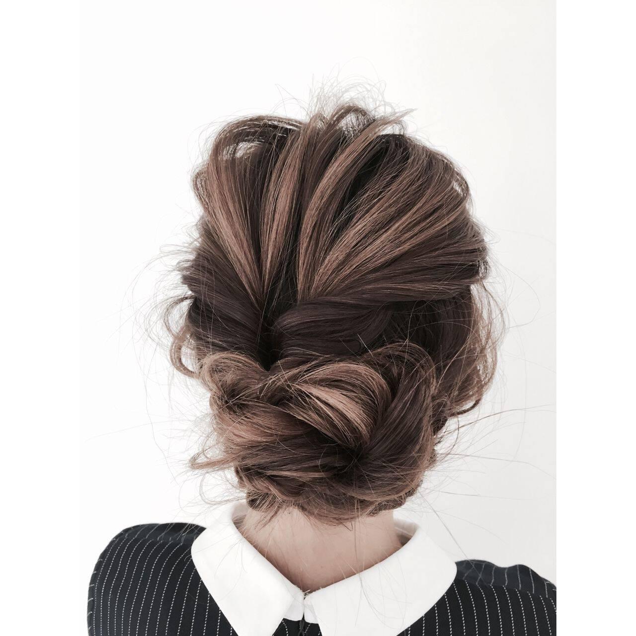 ヘアアレンジ ガーリー モテ髪 愛されヘアスタイルや髪型の写真・画像