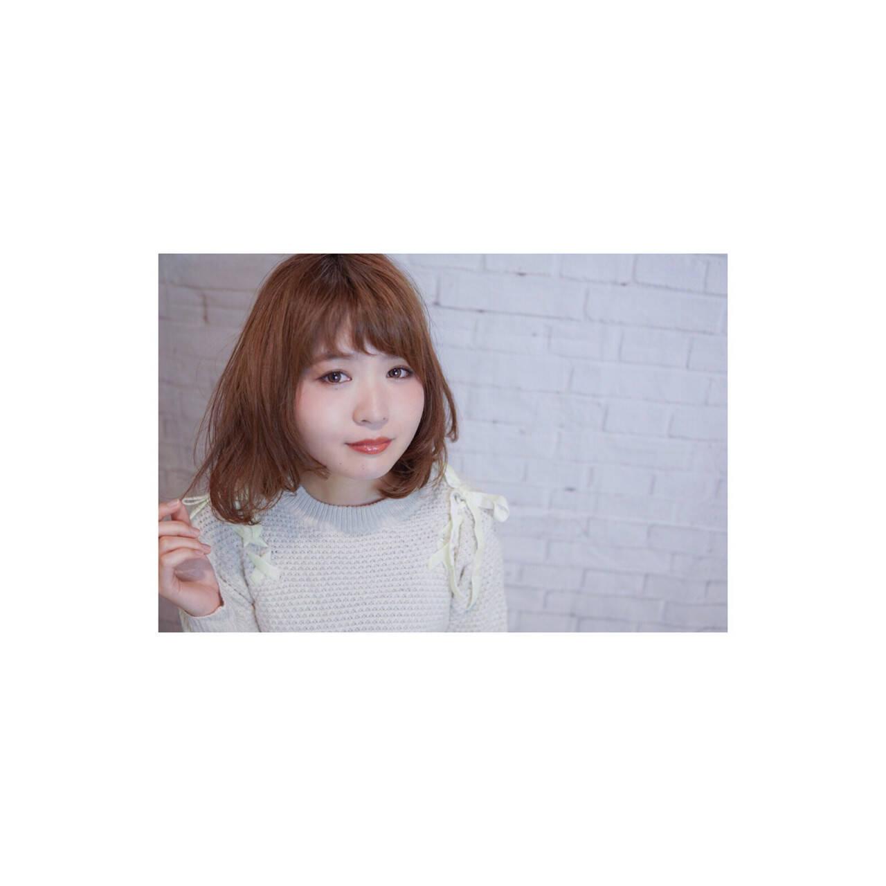 フェミニン ボブ 小顔 大人女子ヘアスタイルや髪型の写真・画像