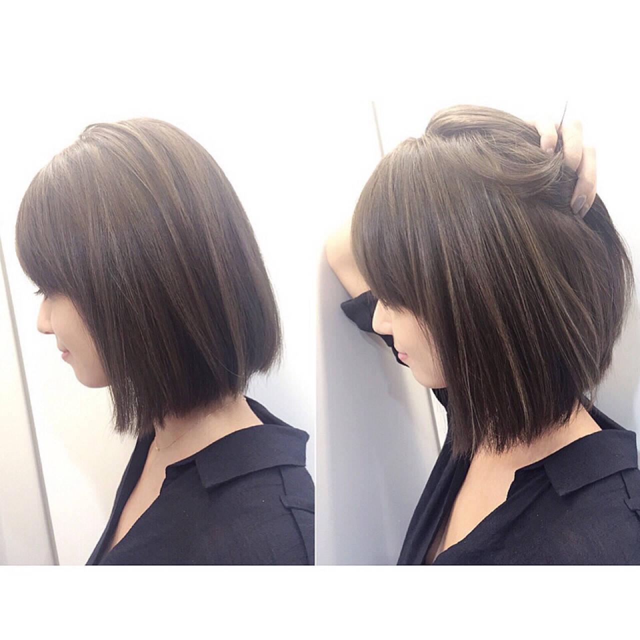 滝沢カレン ハイライト グラデーションカラー ボブヘアスタイルや髪型の写真・画像