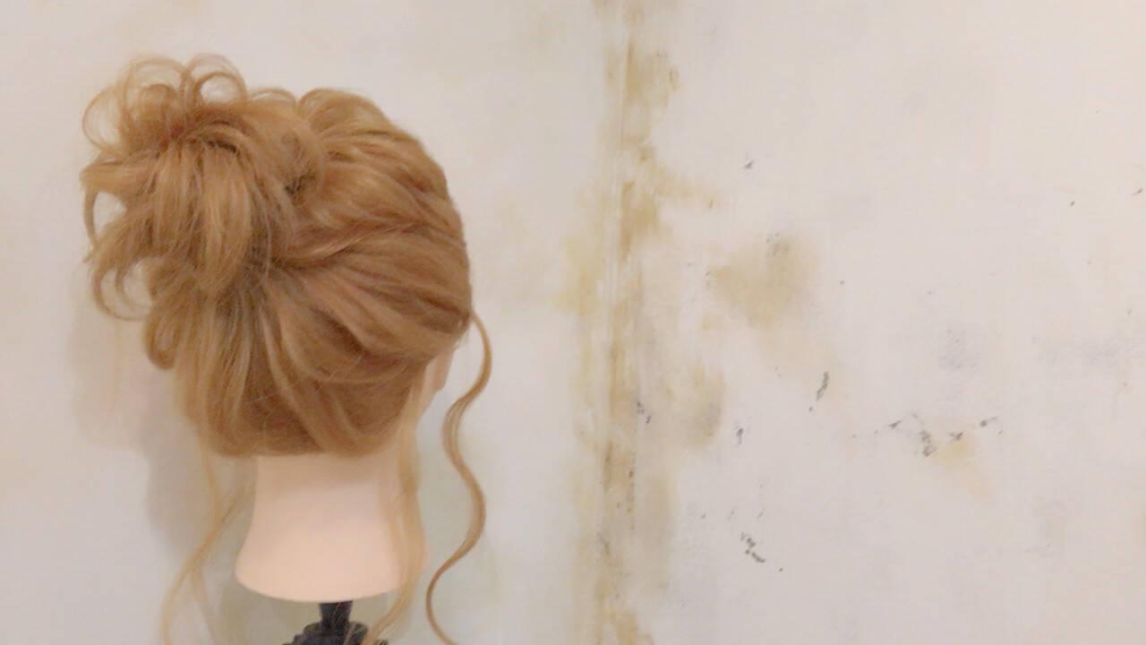 ショート ゆるふわ ロング 簡単ヘアアレンジヘアスタイルや髪型の写真・画像