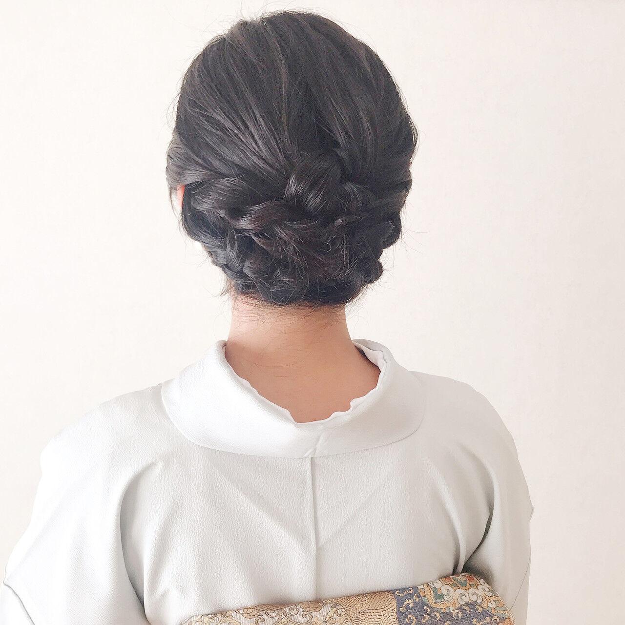 エレガント 結婚式ヘアアレンジ 結婚式 和装ヘアヘアスタイルや髪型の写真・画像