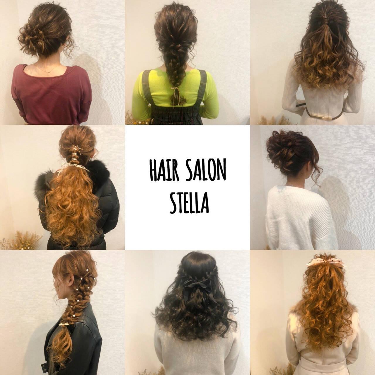 ポニーテール ハーフアップ フェミニン アップスタイルヘアスタイルや髪型の写真・画像