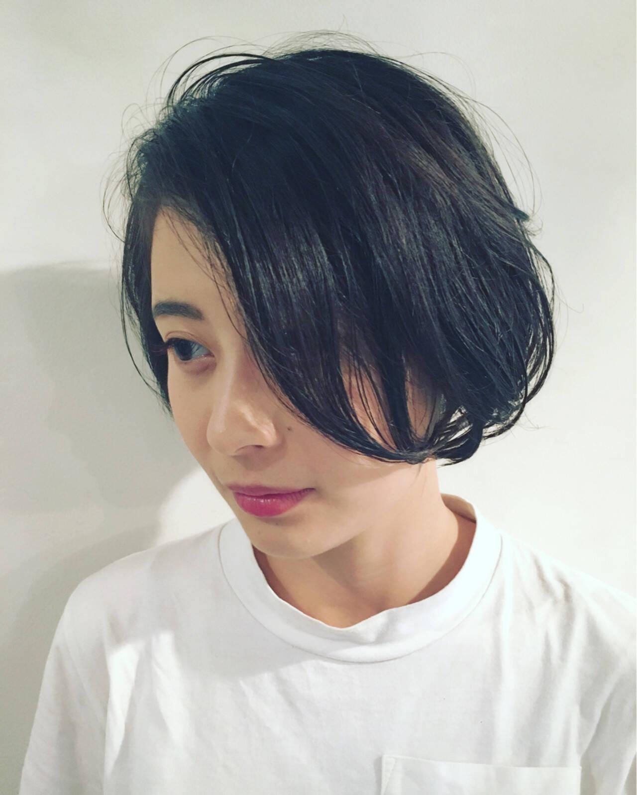 ボブ 外国人風 フェミニン ナチュラルヘアスタイルや髪型の写真・画像