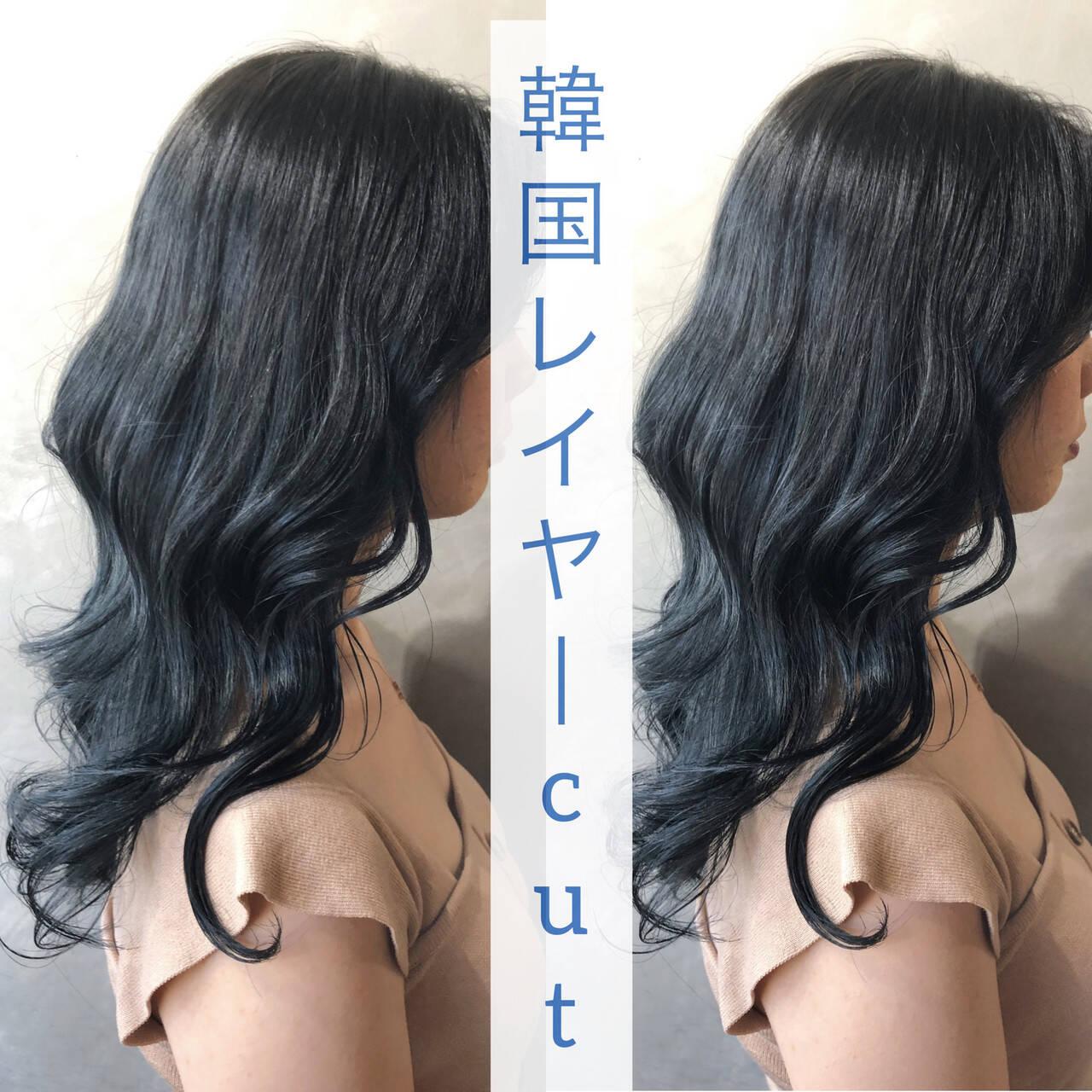 ナチュラル ウルフカット 韓国 外国人風カラーヘアスタイルや髪型の写真・画像
