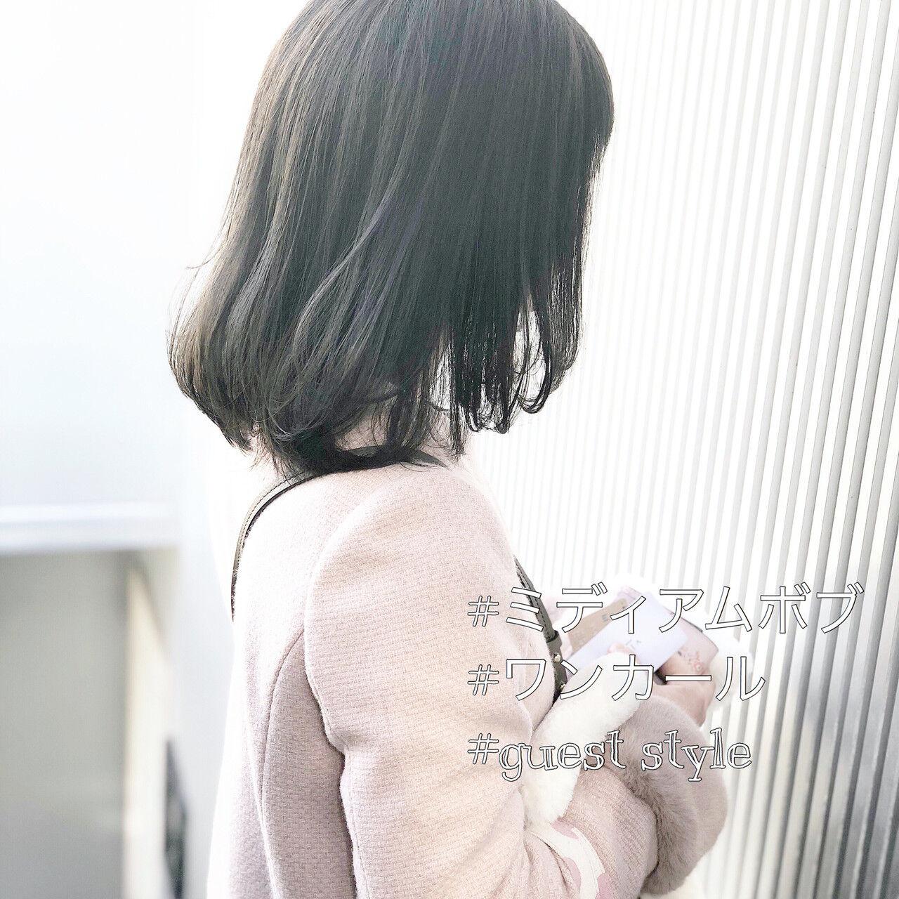 アンニュイほつれヘア アッシュグレージュ 前髪 ボブヘアスタイルや髪型の写真・画像