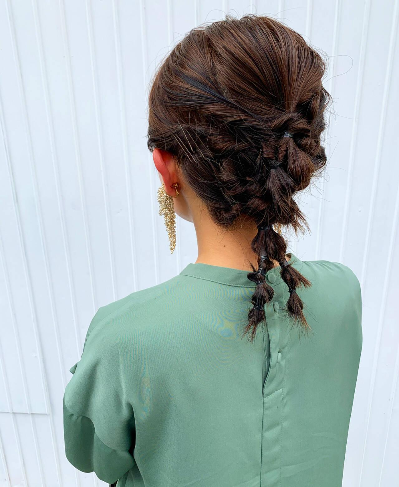 ナチュラル 簡単ヘアアレンジ 結婚式ヘアアレンジ ヘアアレンジヘアスタイルや髪型の写真・画像