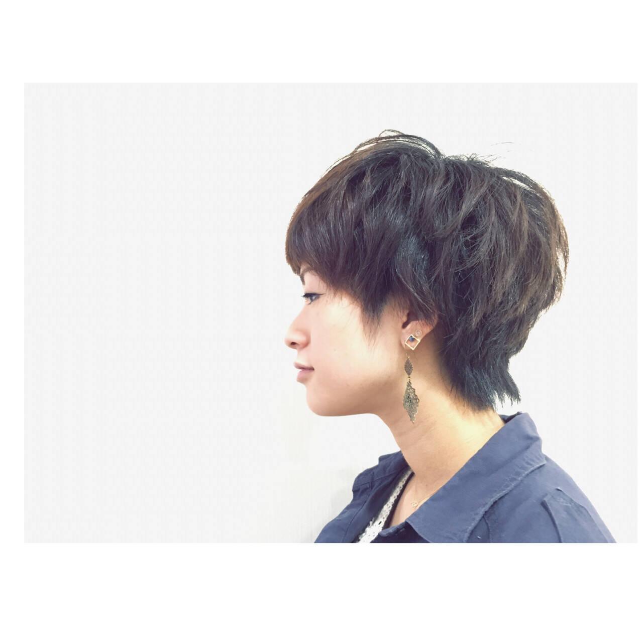 かっこいい 黒髪 くせ毛風 暗髪ヘアスタイルや髪型の写真・画像