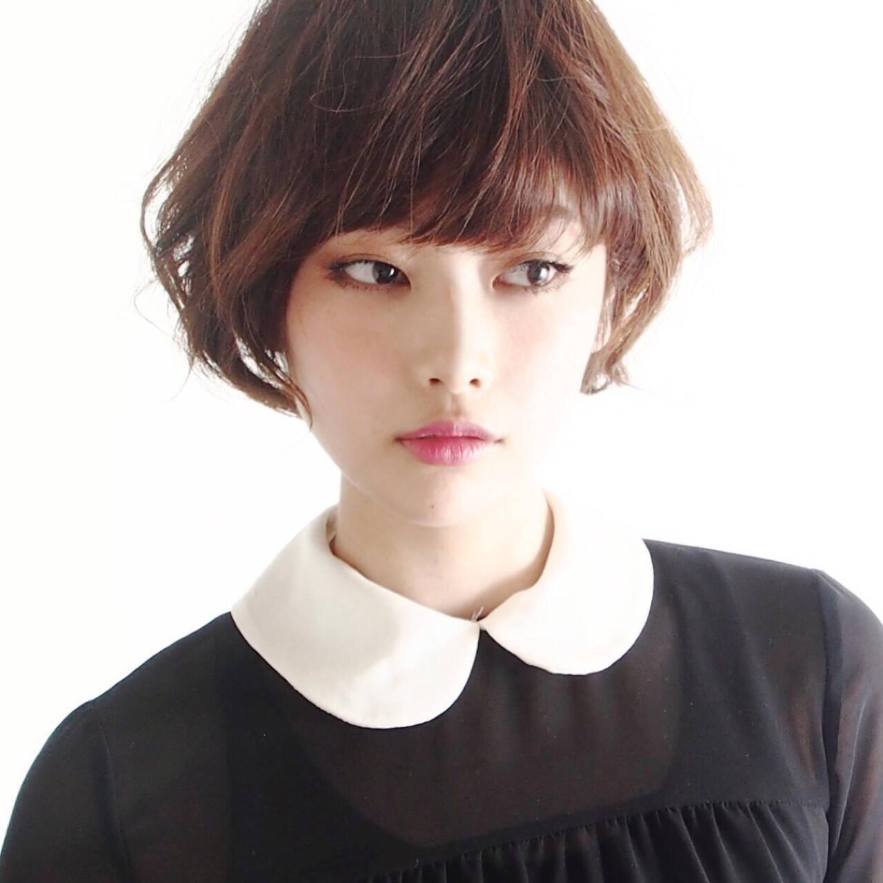 外国人風カラー 小顔 こなれ感 似合わせヘアスタイルや髪型の写真・画像