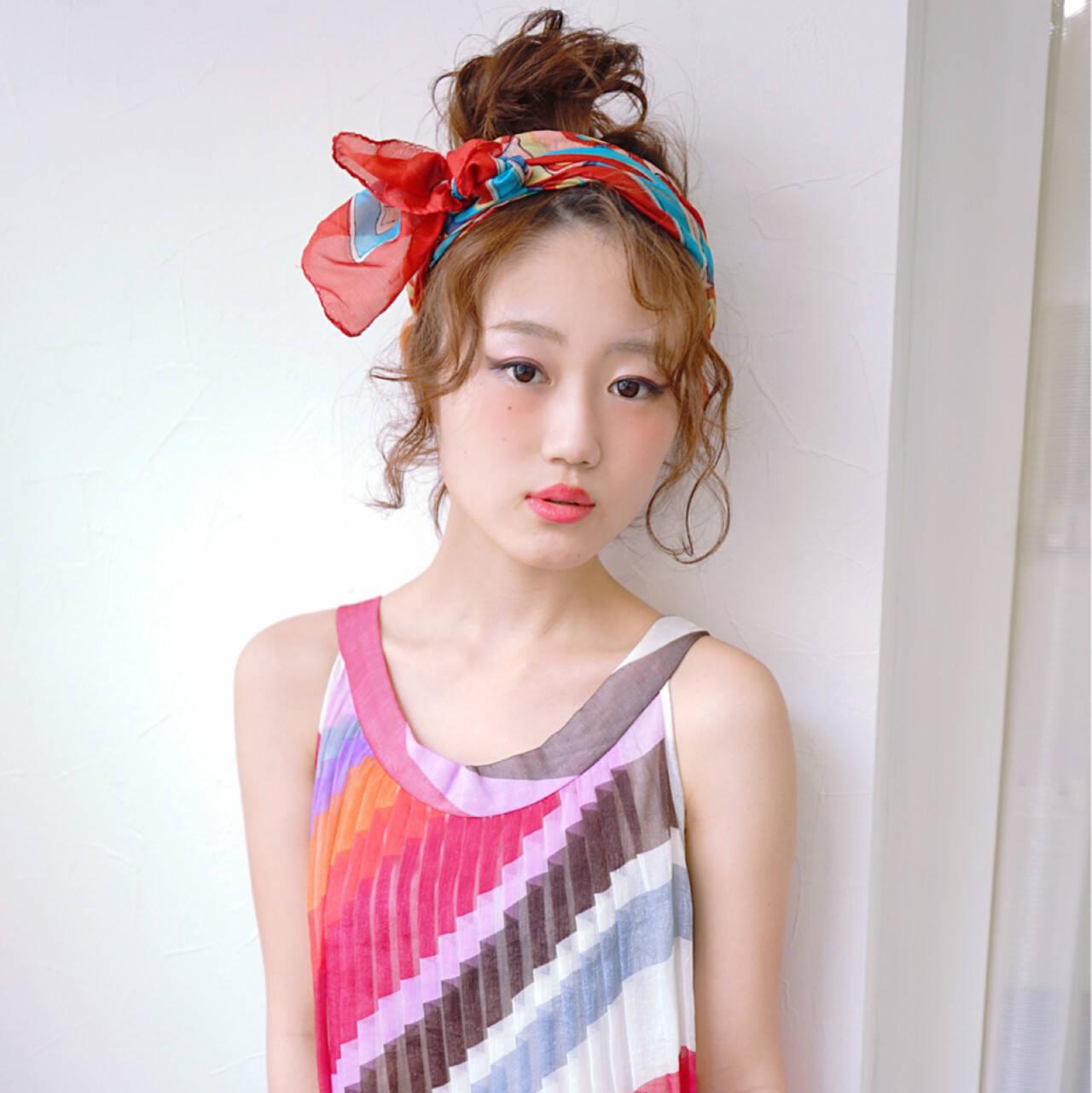 お団子 ショート ヘアアレンジ ボブヘアスタイルや髪型の写真・画像