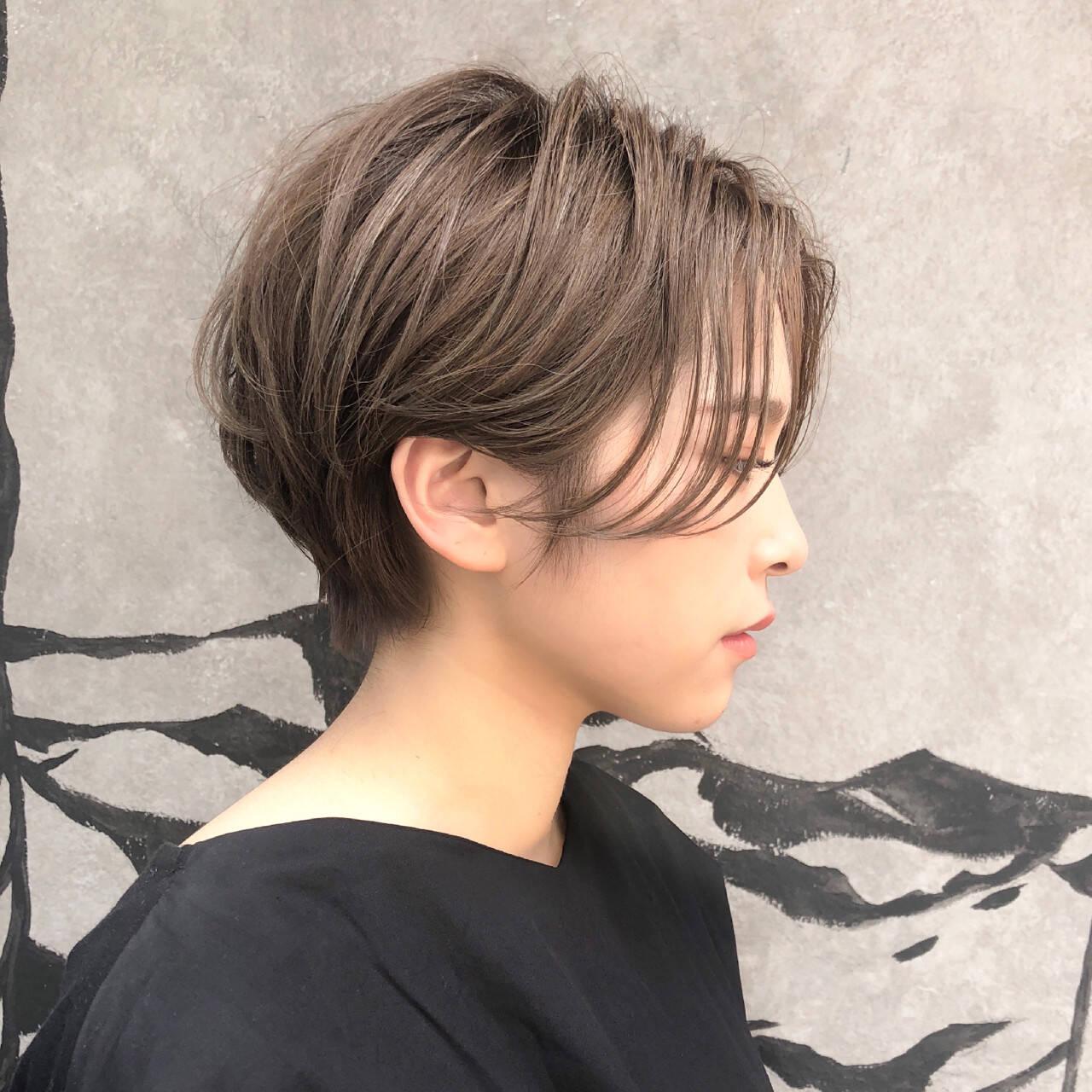 ショートボブ 小顔 デート ショートヘアスタイルや髪型の写真・画像