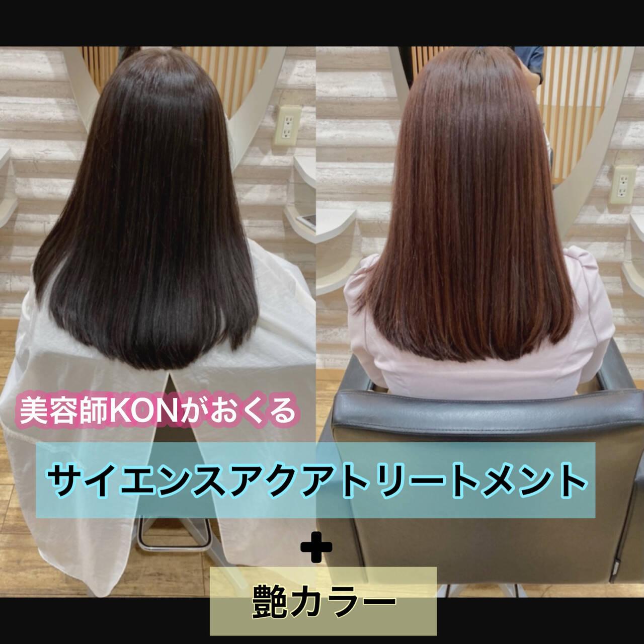 大人ロング 髪質改善トリートメント ロング 髪質改善カラーヘアスタイルや髪型の写真・画像