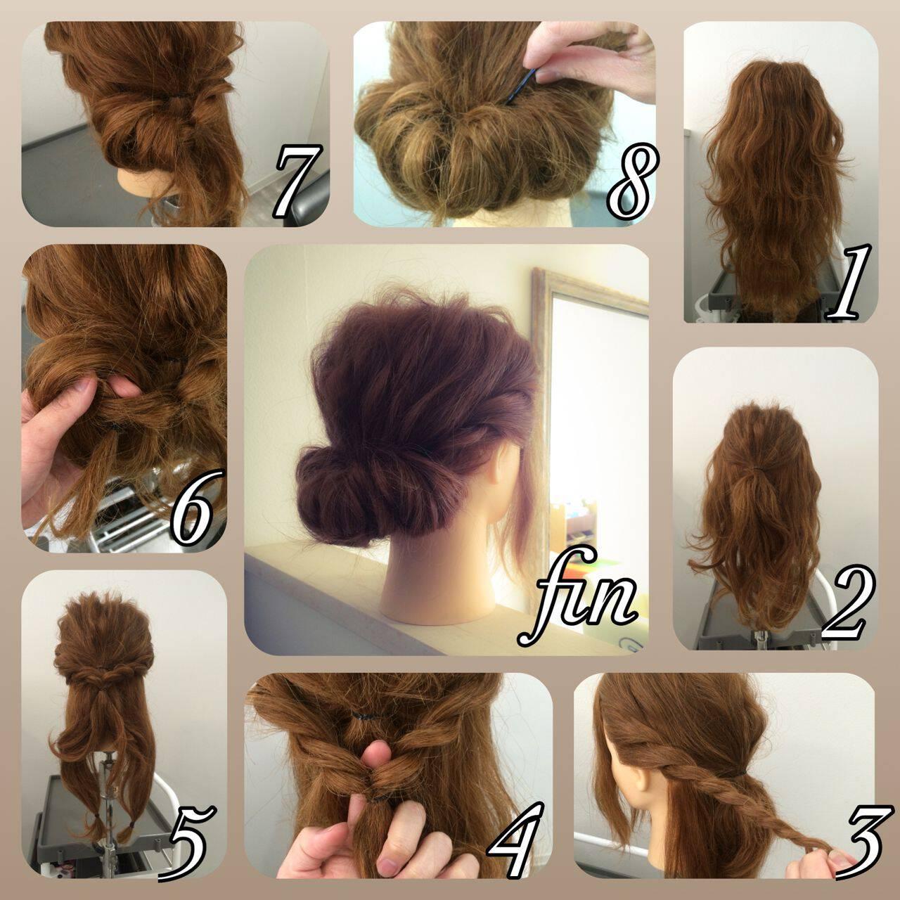 ショート ねじり ヘアアレンジ 簡単ヘアアレンジヘアスタイルや髪型の写真・画像