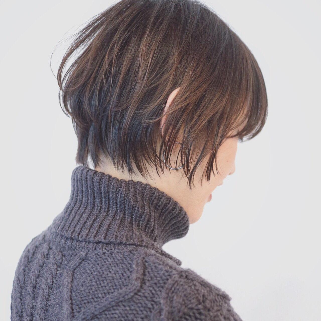 モード オフィス グラデーションカラー アウトドアヘアスタイルや髪型の写真・画像