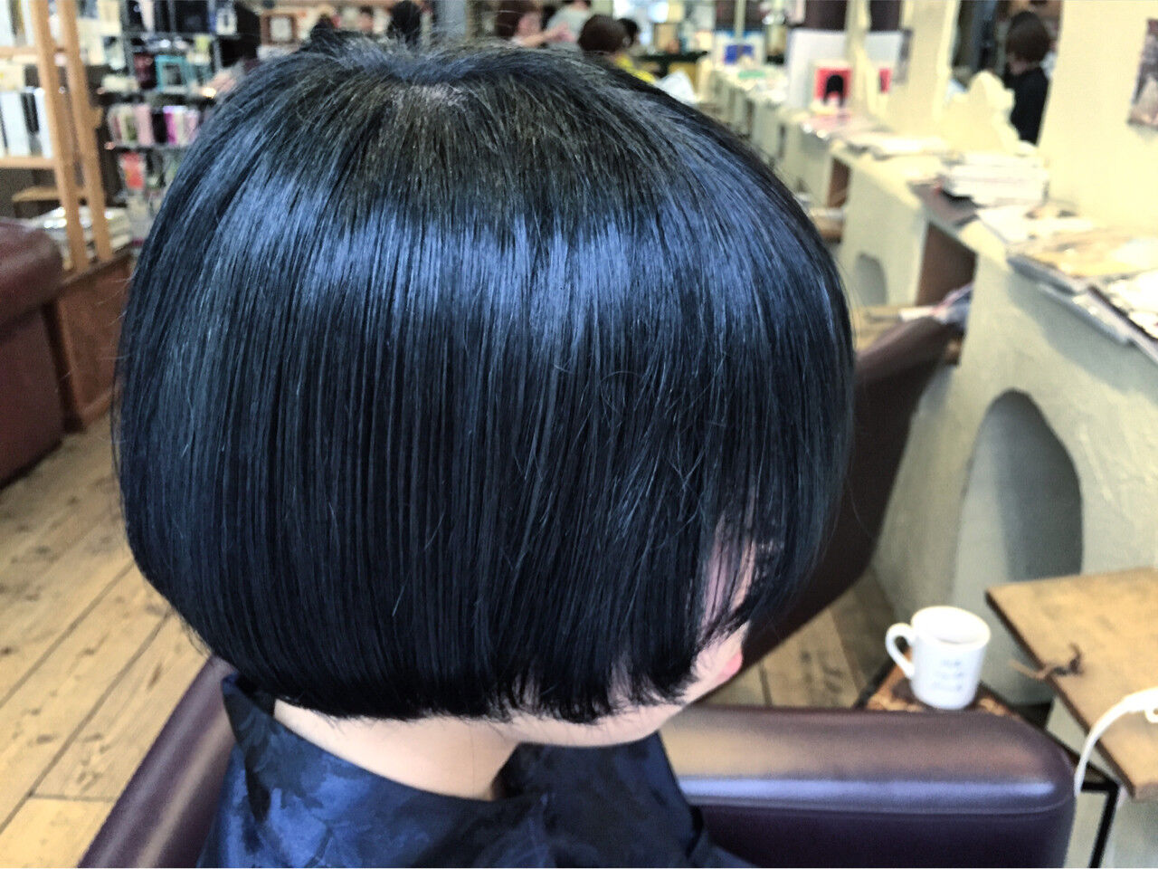 モード ショート ブルージュ ブルーヘアスタイルや髪型の写真・画像